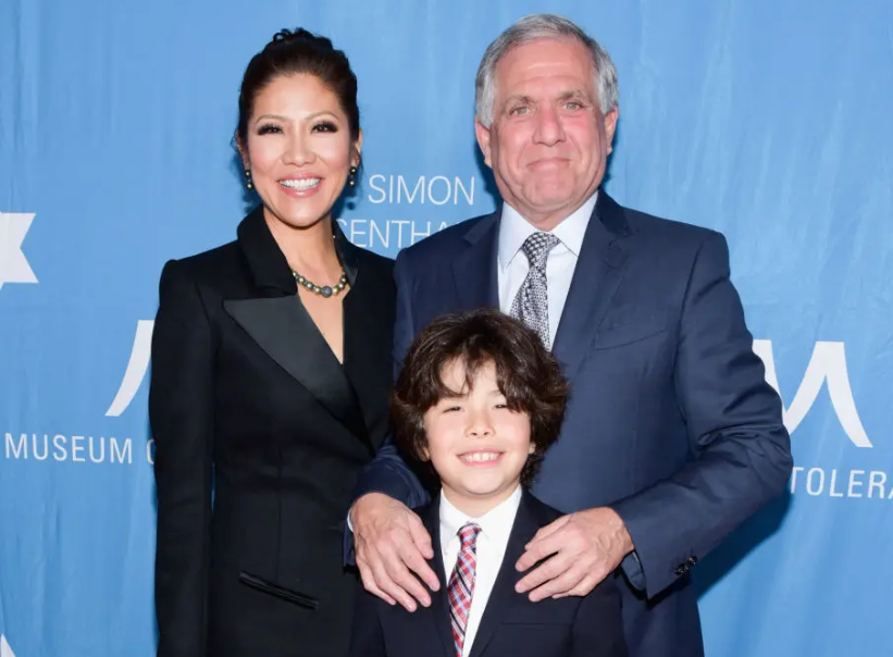 Julie Chen with her husband, Les Moonves and their son, Charlie
