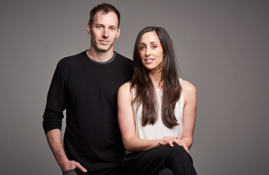 Catherine Reitman with her husband
