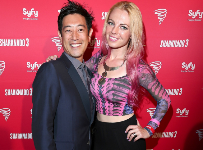 Grant Imahara with his wife, Jennifer Newman