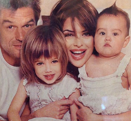 Lisa Rinna With Her Husband And Child