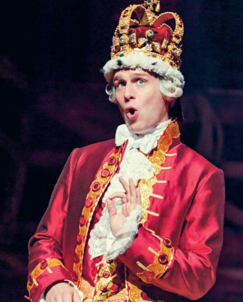 Jonathan Groff as King George III on Hamilton