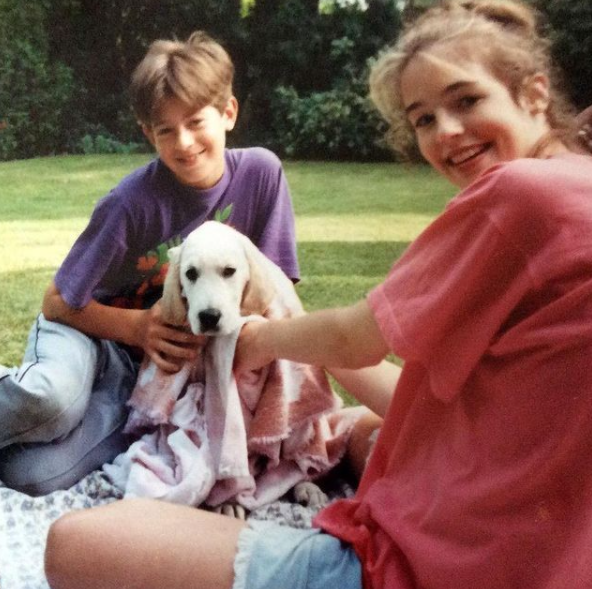 Cat Deeley and her brother, Max Deeley during childhood