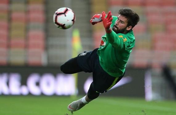 Alisson Becker Saving The Ball