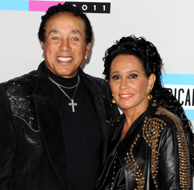 Smokey Robinson with his wife, Claudette Rogers