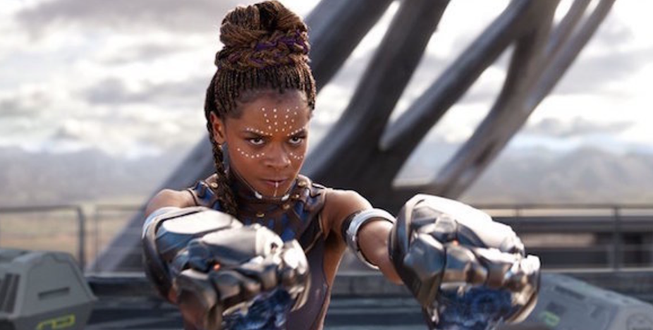 Letitia Wright as Shuri in the Marvel Cinematic Universe film Black Panther