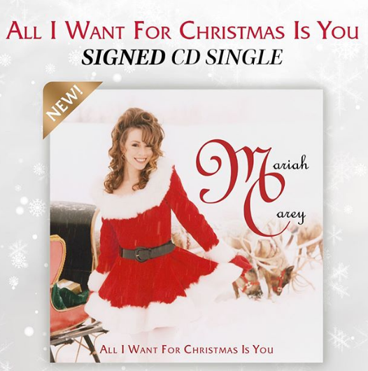 Mariah Carey Single All I Want For Christmas Is You