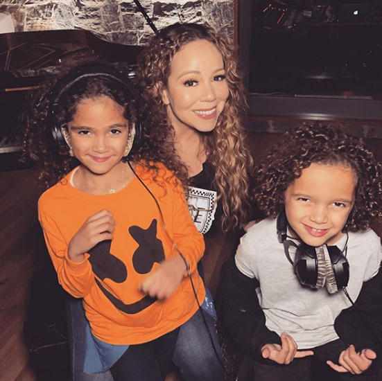 Mariah Carey With Her Childeren