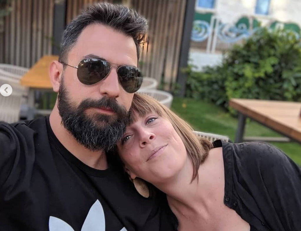 Jess Phillips with her husband, Tom Phillips